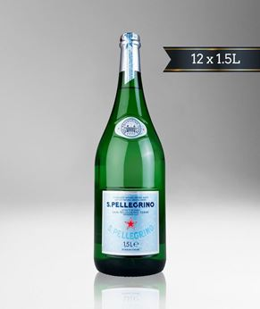 Picture of [S. Pellegrino] Sparkling Water, Glass Bottle With Crown Cap, 12x1.5L