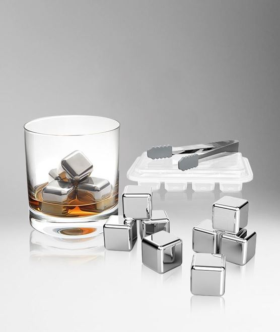 Picture of [S.Quire] Stainless Steel Ice Cube, Set Of 8
