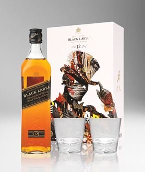 Picture of [Johnnie Walker] Black Label, 2018 Festive Gift Pack With 2 Glasses, 700ML