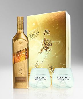 Picture of [Johnnie Walker] Gold Label Reserve, 2016 Festive Gift Pack With 2 Glasses, 750ML