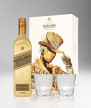 Picture of [Johnnie Walker] Gold Label Reserve, 2018 Festive Gift Pack With 2 Glasses, 750ML