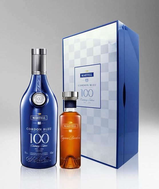 Rørig Martell Cordon Bleu 100 Centenary Edition Gift Pack With Miniature TB-94
