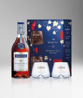 Picture of [Martell] Cordon Bleu, 2018 Festive Gift Pack With 2 Glasses, 700ML