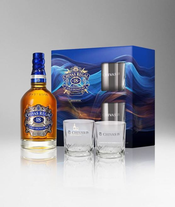 Picture of [Chivas] Chivas Regal 18, 2019 Festive Gift Pack With 2 Glasses, 750ML