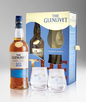 Picture of [Glenlivet] Founder's Reserve, 2019 Festive Gift Pack With 2 Glasses, 700ML