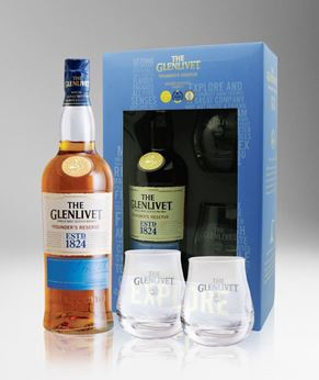 Picture of [Glenlivet] Founder's Reserve, 2018 Festive Gift Pack With 2 Glasses, 700ML