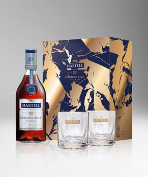 Picture of [Martell] Cordon Bleu, 2020 Festive Gift Pack With 2 Glasses, 700ML