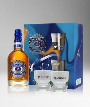 Picture of [Chivas] Chivas Regal 18, 2020 Festive Gift Pack With 2 Glasses, 750ML